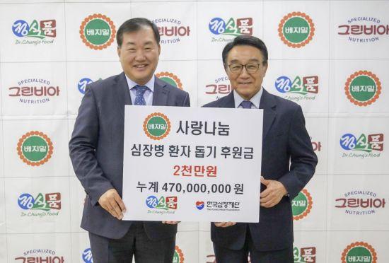 정식품, '사랑나눔 캠페인' 통해 심장병 환자 수술비 지원