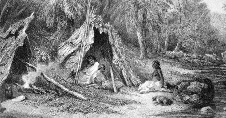"""인간이 구축하는 사회 집단의 크기는 150명 정도다. '던바의 수'를 고안한 로빈 던바는 """"150이라는 숫자는 진정으로 사회적인 관계를 가질 수 있는 최대한의 개인적인 숫자""""라면서 """"술집에서 우연히 마주치게 되었을 때 초대 받지 않은 술자리에 동석해도 당혹스러워하지 않을 정도의 사람 숫자""""라고 표현했다. 사진은 19세기 호주 선주민 가족의 초상."""