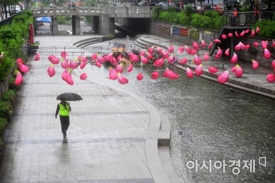 [포토]허전해진 청계천 전통등 전시회