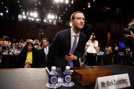 미 의회 청문회에 참석한 마크 저커버그 페이스북 최고경영자 [이미지출처=로이터연합뉴스]