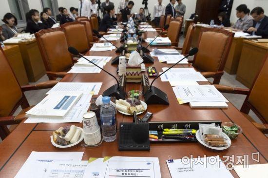[포토] 열리지 못하는 예산조정소위