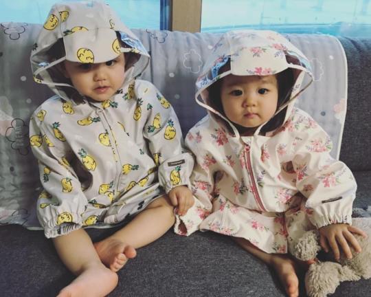 한그루 쌍둥이 자녀/사진=한그루 인스타그램