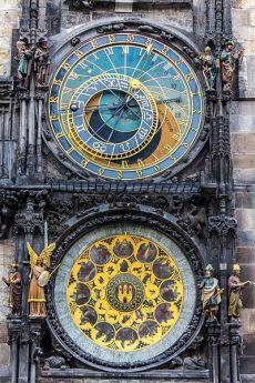 체코 프라하에 있는 천문시계.