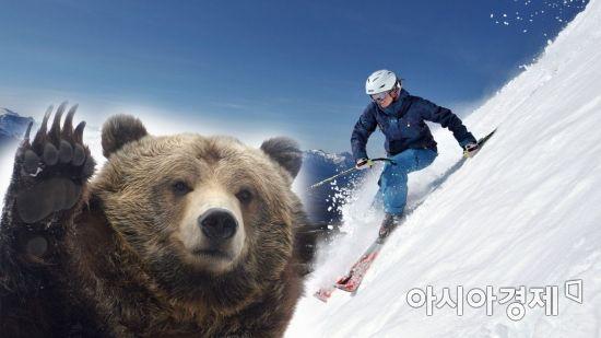 스키 타다 곰과 마주친 '아찔한 순간' (영상)