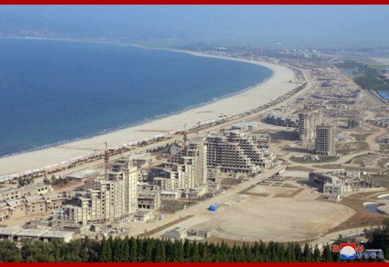 원산갈마 해안관광지구 일대<사진:조선중앙통신>