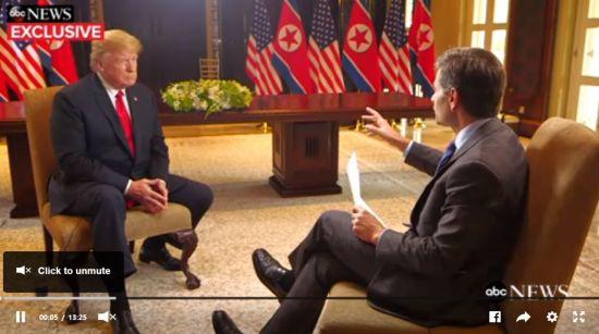 """트럼프 """"김정은 믿는다…핵우산 제거·주한미군 철수 논의 안 해"""" (종합)"""