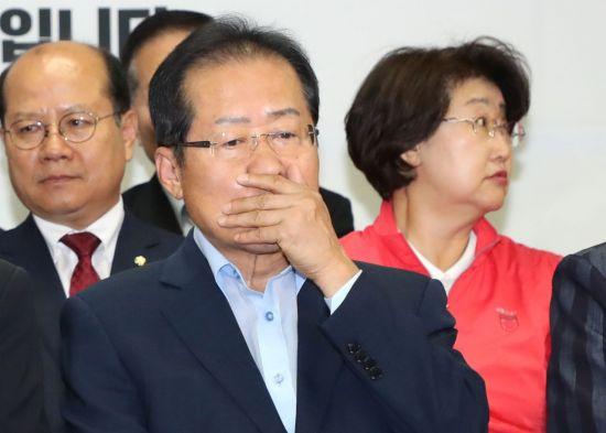 [6·13 민심]체면 구긴 홍준표…대표직 사퇴할 듯