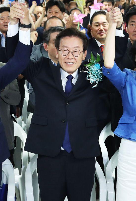 [6·13 민심]이재명 경기도지사 당선 확실…득표율 54.9%