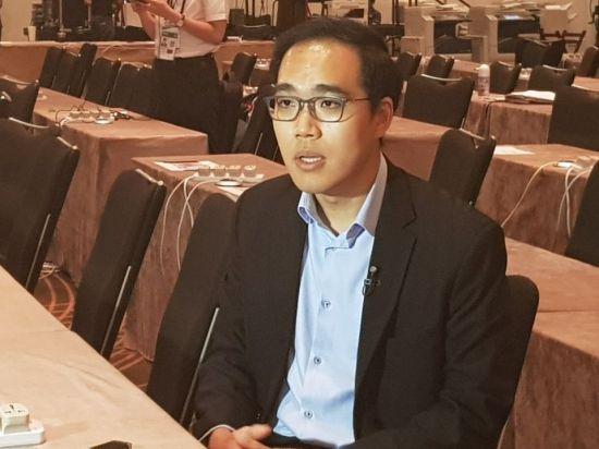 션 호 난양공대 국제문제연구소(RSIS) 연구원이 싱가포르에 설치된 한국프레스센터에서 인터뷰에 응하고 있다. (사진=이설 기자)