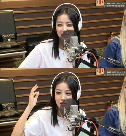 가수 유빈/사진=MBC FM4U '정오의 희망곡 김신영입니다' 보이는 라디오 캡처
