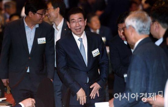 [포토] 6.15 남북회담 18주년 기념식 참석한 박원순 서울시장