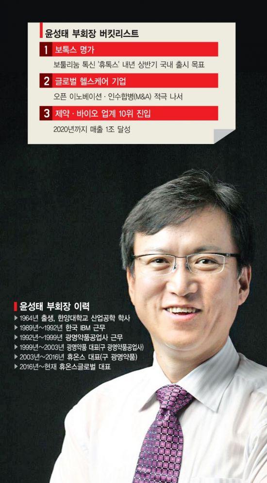 """윤성태 부회장 """"휴온스 1호 임상맨"""""""