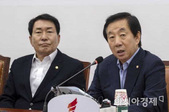 [포토] 발언하는 김성태 대표대행