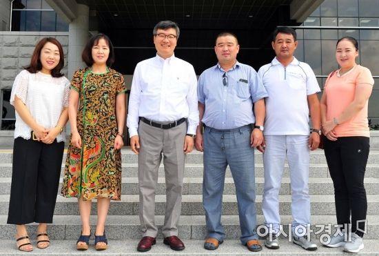 몽골 에르데네트 교육부 방문단, 호남대 내교