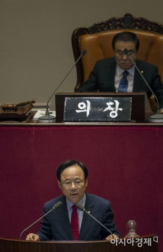 [포토] 당선 인사하는 이주영 국회부의장