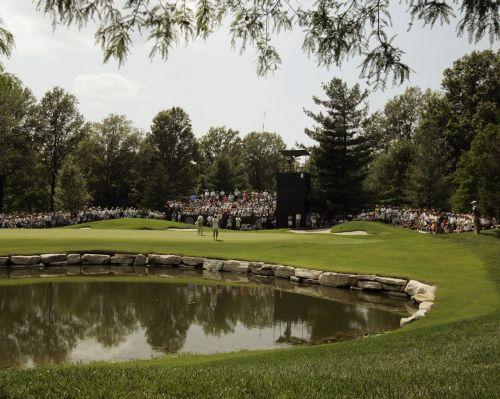 2018시즌 마지막 메이저 PGA챔피언십의 격전지 벨러리브골프장 6번홀 그린 전경.