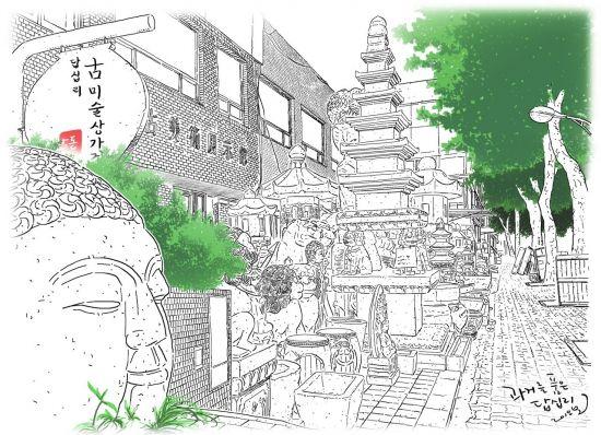 [한국의 골목길]도심속 골동품 박물관…조상魂 품은 거리 '답십리 고미술상가'