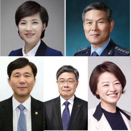 교육 유은혜·국방 정경두·산업 성윤모·고용 이재갑·여성 진선미