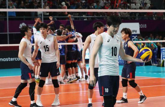 남자배구, 아시아 최강 이란에 져 AG은메달