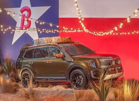 기아차가 뉴욕 패션위크에서 선보인 대형 SUV '텔루라이드'