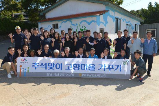 NH농협손보, '추석맞이 고향마을 가꾸기' 봉사활동