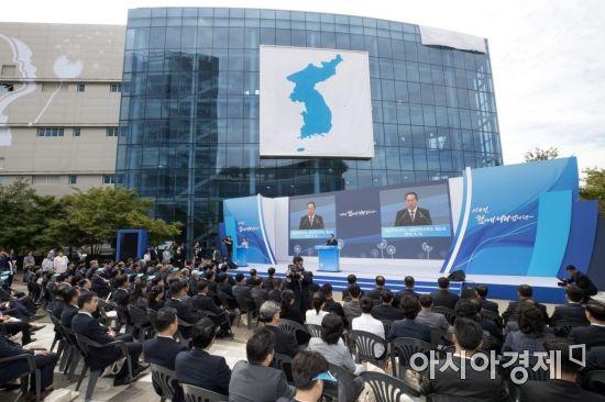 [포토]기념사하는 리선권 조국평화통일위원회 위원장