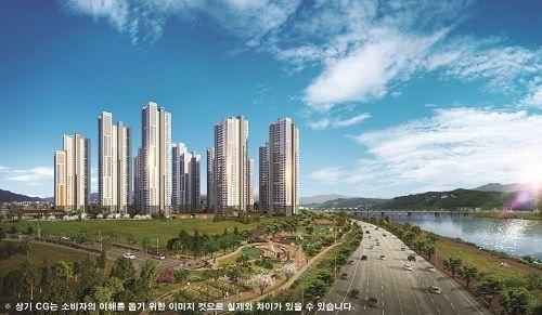 대전의 신강남, 금강변 일대 '동일스위트 리버 스카이' 11월 분양예정