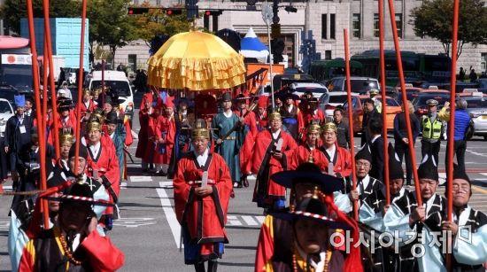 [포토] 조선시대 어가행렬 재현