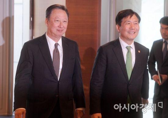 [포토]대한상공회의소 첫 방문한 성윤모 산업부 장관