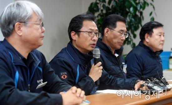 [포토] 발언하는 김명환 위원장