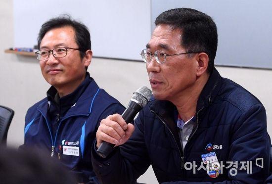 [포토] 발언하는 김주영 한국노총 위원장