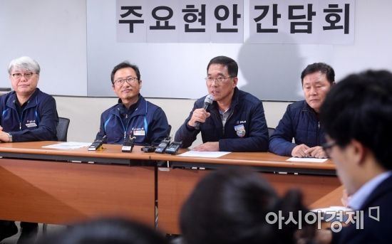 [포토] 탄력근로제 공동대응 논의하는 양대노총 간담회
