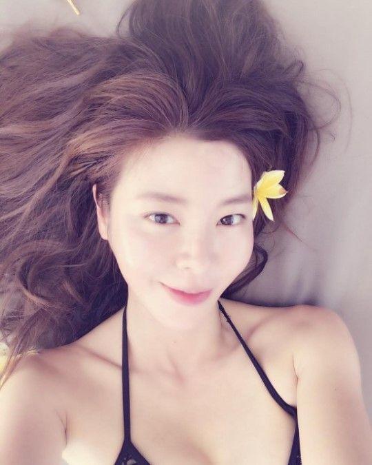 [포토] 김규리, 휴양지의 비키니 미녀