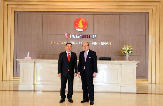김승연 한화 회장, 베트남 최대 기업 빈 그룹 회장과 면담