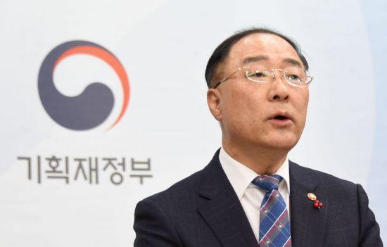 """홍남기 """"예타 면제, 단기적 경기부양용 아니다…10년간 추진""""(종합)"""