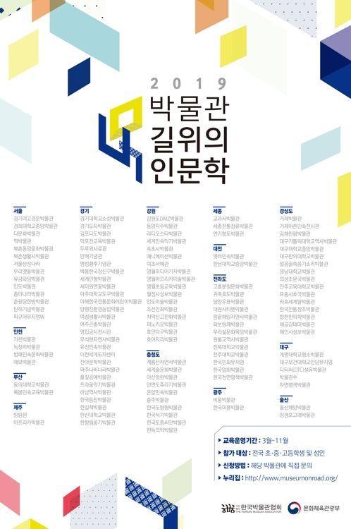 전국 박물관 120곳에서 '길 위의 인문학'