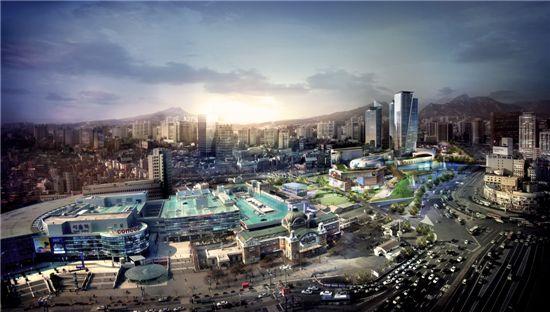 서울역 북부역세권 개발 조감도.
