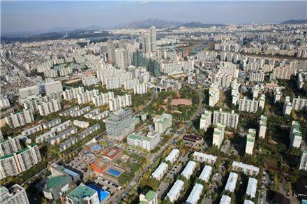목동 중심축 아파트 전경