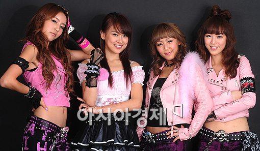 <center>▲햄(HAM)의 효니, 가연, 미유, 수진(왼쪽부터)</center>