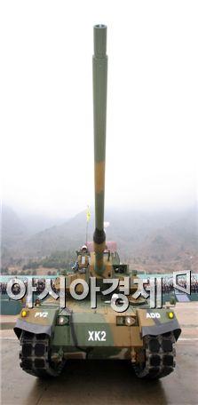 대한민국 육군의 차세대 주력 전차인 'K-2'(일명 흑표)
