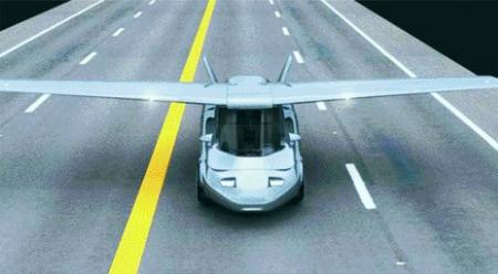 ▲초친수성 물질은 항공기와 자동차 유리에 주로 사용된다. 자동차에 항공기를 결합한 듀얼모드 PAV.