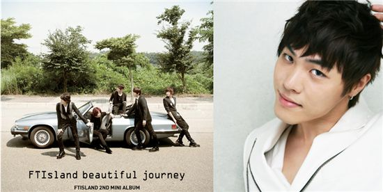 "FT Island's 2nd mini-album ""beautiful journey"" (left) and Korean R&B singer Wheesung (right) [FNC Music/POPUP Entertainment]"