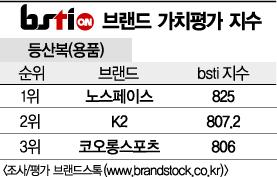 [그래픽뉴스]노스페이스, 등산복 브랜드 1위