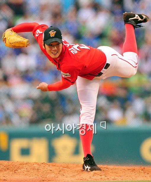 [포토]역투하는 SK 김광현