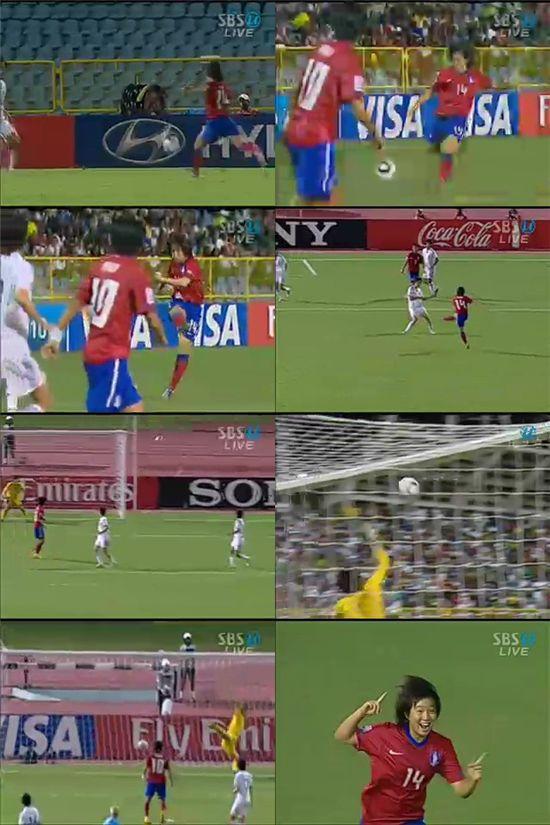 [U-17 女월드컵]이소담 동점골..한국 3-3 일본(후반 34분)