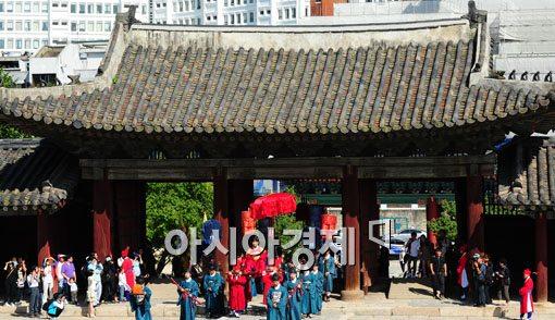 [포토] 조선시대 영조 오순 어연례 재현
