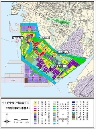 송도국제도시 내 주유소 설치 계획.