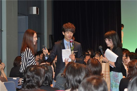 Korean actor Park Jae-jung at his fan meeting in Japan on October 9. [Eyagi Entertainment]