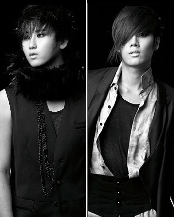 SS501 member Heo Young-Saeng (left) and Kim Kyu-jong (right) [Official SS501 Website]