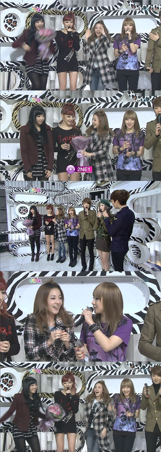 2NE1, '인기가요' 4주 연속 1위 사상최초 '大기록' 수립